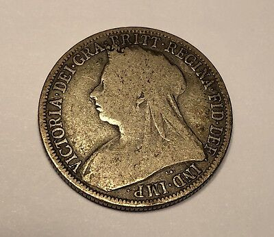 1895 Great Britain One Florin Two Shillings Coin