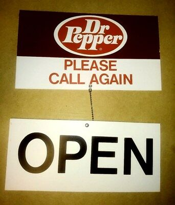 Mint Never Used Dr Pepper Double Sided Open Close Sign