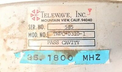 Telewave TWPC-0310 35 MHz Pass Cavity