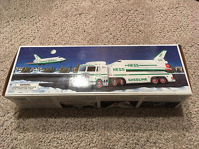"1999 HESS Truck - ""Toy Truck and Space Shuttle with Satellite"" and Original Box"