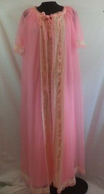 Vintage 1960's Cotton Candy Pink Tosca Peignoir Set in PERFECT condition!