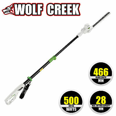 Wolf Creek HT50 Electric Long Reach Pole Hedge Trimmer Telescopic Rotating Head