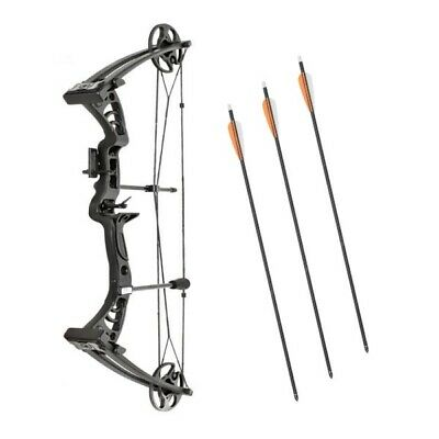 Compound Bow Monster Powerful Adult Set Kit Right Hand + Sight Rest Arrows