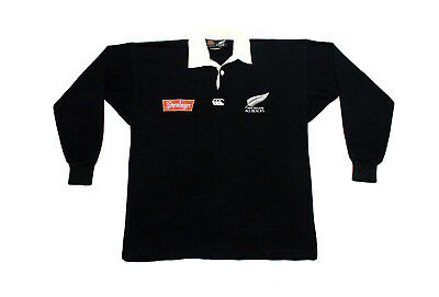 3f71c36585f Vintage Steinlager Canterbury of New Zealand All Blacks Rugby Shirt Small