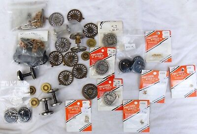 Lot of Vintage O Scale Precision Scale Co Metal Wheels & Brass Parts