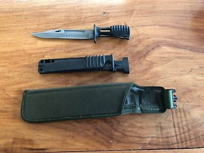 Sa80 British Army Bayonet With Sheath
