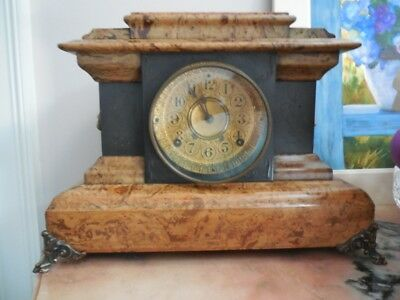 Antique SETH THOMAS Marbleized Mantle Clock-Circa 1880