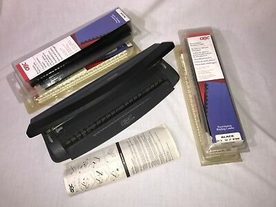 GBC DocuBind Personal -- binding machine with assorted combs