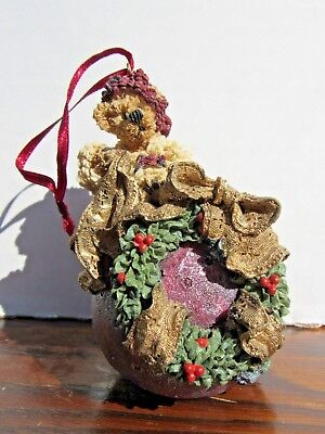 Boyds' Bears Christmas hand made ornament Edmund Deck the Halls #25700 numbered