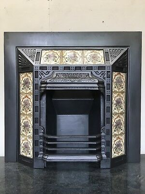50% OFF Original Restored Antique Cast Iron Victorian Fireplace Small Bedroom ta492
