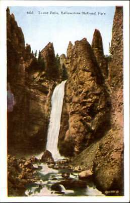 Chimney Rock~Cody Road to Yellowstone National Park ~ vintage 1920s postcard
