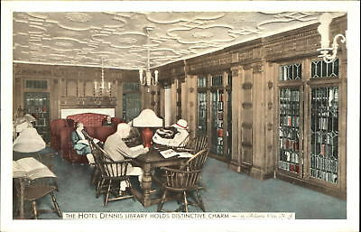 Library of Hotel Dennis Atlantic City New Jersey ~ 1950s
