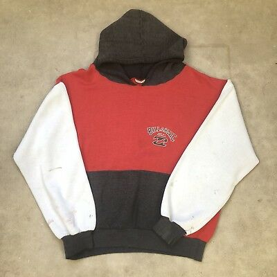 80s Billabong Bad Billy Tri Tone Pullover Hoodie Sweater Faded Soft Thin
