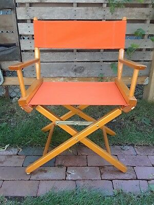 Vintage Gold Medal Directors Chair Orange
