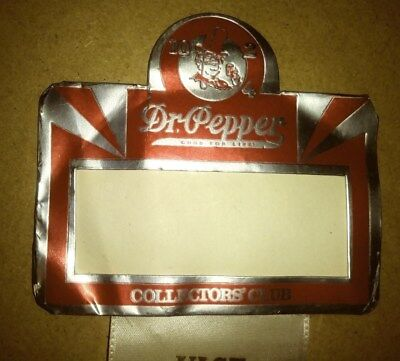 Dr Pepper Foil Badge With Old Doc On It