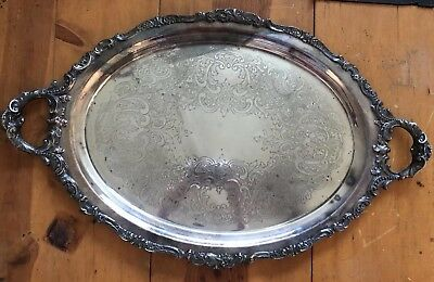"""Lg Vintage Baroque By Wallace Silverplate Tray #294 - 17 1/2"""" X 29"""""""