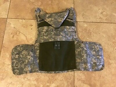 Army Issued PARACLETE Armor Personal Body Armor With Ballistic Plates. Used. Med