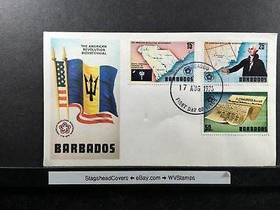 Barbados FDC 17 Aug 1976 US Revolution Bicentennial 1776-1976  Unaddressed
