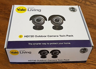Yale Indoor HD 720p CCTV Outdoor Twin Pack Camera - HDC-303G-2 - 2x Cameras