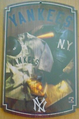 1927 NY Yankees Caption Jersey wood sign 11x17  MLB Sticker  Wall Man Cave