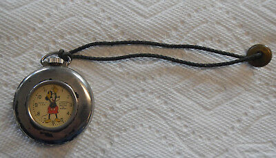 Mickey Mouse Vintage Ingersoll Pocket Watch with Stand