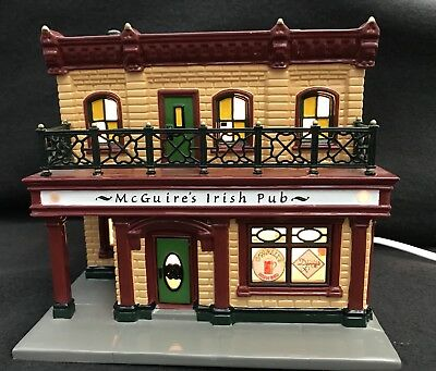 Department 56 Original Snow Village McGuire's Irish Pub Christmas Ornament 2001