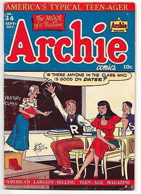 Archie # 34, Classic Al Fagaly Cover, Archie, Jughead Betty And Veronica