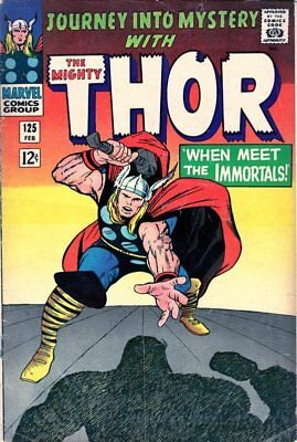 Journey Into Mystery #125  - Last Issue - Becomes Thor - 1966-MARVEL SILVER AGE
