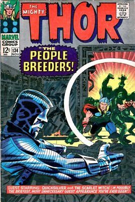Thor#134  MARVEL SILVER AGE 1st App of High Evolutionary! Classic Kirby Cover