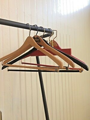 Vintage Wooden Wood Adult Size Clothing Hangers Rare Finds (Lot of 5)