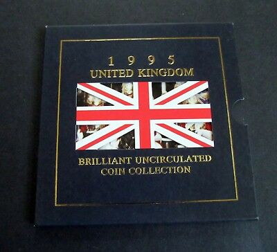 1995 UK  Brilliant Uncirculated Coin Collection INC. £2 PEACE COIN END OF WW 2