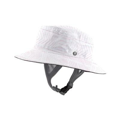 Ocean & Earth Kids Bingin Soft Peak Surf Hat In Pink for Watersports 53cm/55cm