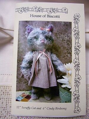 """12""""Scruffy Cat and 6""""Cindy Birdsong PATTERN"""