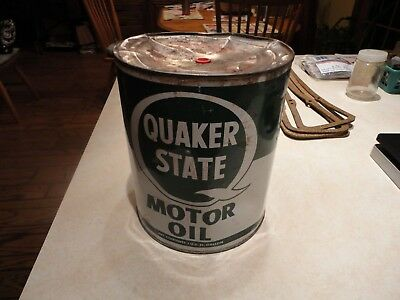 Vintage Quaker State Motor Oil 1 Gallon Can Service Station Gas Oil Decor,Pa Oil