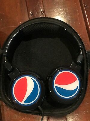 Pepsi Headphones With Case....Brand NEW never used Skull Candy