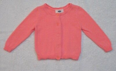 Old Navy Baby Girls' Pink Cardigan Sweater 12-18 Months Button Up