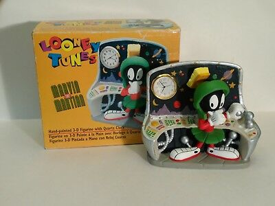 Vintage 1996 Looney Tunes Marvin The Martian 3-D Clock Time Warp Westclox China