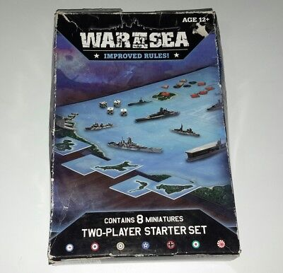 Axis and Allies WAR AT SEA NAVAL MINIATURES GAME 2 Player Starter Set Revised