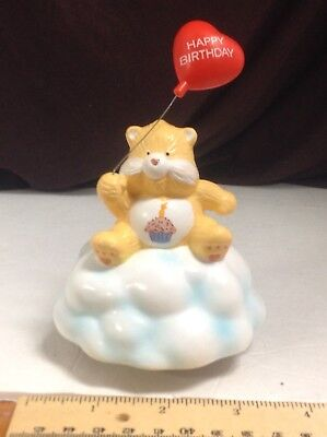 Vintage 1985 Birthday Bear Care Bear American Greeting Music Box Works No Chips
