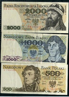 Weeda Poland Banknote collection, high grades and better early dates, see scans
