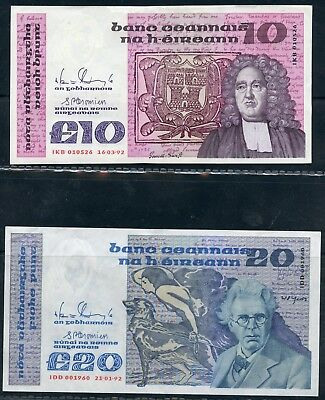 Weeda Ireland Banknote collection, scarce high values, high grades, see scans