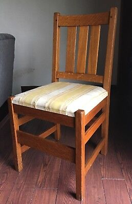 L&JG Stickley 1340 Chair Original Rare Antique