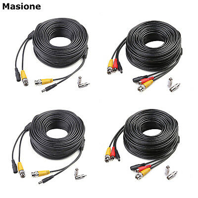 2x 100Ft CCTV Cable Video Power Premade Security Camera DVR Surveillance Wire