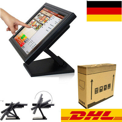 """USB TOUCH SCREEN DISPLAY 15 """"POS-System LCD-Display POS-Monitor 220V 50Hz DE"""