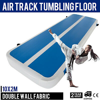 Inflatable Gym Mat Air Tumbling Track Floor w/Pump Cheerleading PVC Airtrack