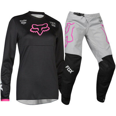 NEW Fox 2019 Kids MX 180 Mata Black Pink Girls Toddler Motocross Gear Set