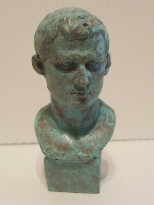 Ancient Roman Empire Marcus Vipsanius Agrippa Cold Casting Antique Copper Bust
