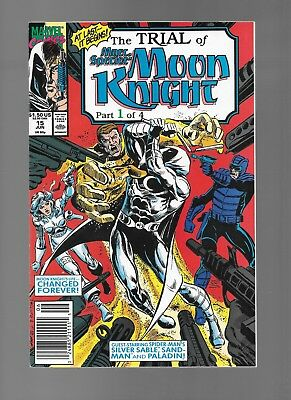 Trial of Marc Spector: Moon Knight #15 (Jun, 1990) Part One Silver Sable VF+ 8.5
