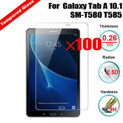 100X Tempered Glass Screen Protector For Samsung Galaxy Tab A 10.1 SM-T580 T585