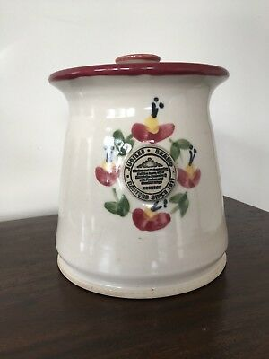 From Bendigo Pottery Jubilee Brand Pottery Jar with lid excellent condition